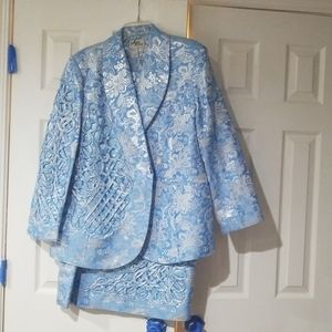 Blue and Silver suit. Plus size